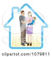 Young Parents And Their Baby In A Secure House