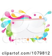 Clipart Blank Sign With Colorful Splashes Royalty Free Vector Illustration by AtStockIllustration