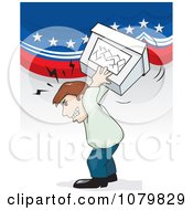 Clipart Angry Voter Throwing A Ballot Box Royalty Free Vector Illustration