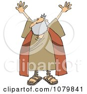 Clipart Moses Holding Up His Arms Royalty Free Vector Illustration by djart