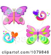 Butterflies And Swirly Hearts