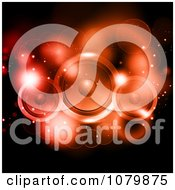 Clipart Red Sparkly Lights And Music Speakers On Black Royalty Free Vector Illustration