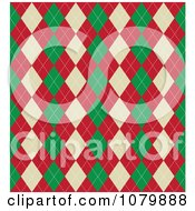 Green Red And Beige Christmas Argyle Pattern