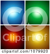 Blue Green Red And Orange Sunburst Backgrounds