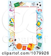 Clipart Graph Paper And School Supply Frame Around Copyspace Royalty Free Vector Illustration