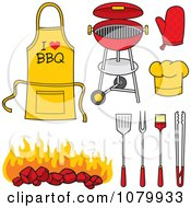 Clipart BBQ Items Royalty Free Vector Illustration by Any Vector
