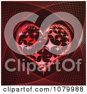 Red Icon Of A Sparkly Poker Heart