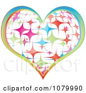 Clipart Colorful Sparkly Casino Heart Icon Royalty Free Vector Illustration
