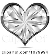 Silver And Crystal Heart