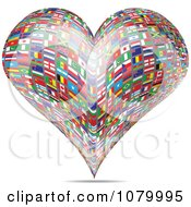 Clipart Heart Made Of National Flags Royalty Free Vector Illustration