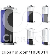 Clipart 3d Estonian Flag Batteries At Different Charge Levels Royalty Free Vector Illustration