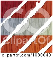 Clipart Rips Through A Wooden Austria Flag Royalty Free Vector Illustration