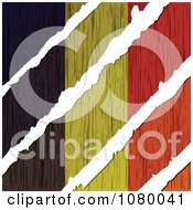 Clipart Rips Through A Wooden Belgium Flag Royalty Free Vector Illustration
