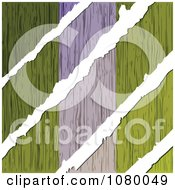 Clipart Rips Through A Wooden Nigerian Flag Royalty Free Vector Illustration