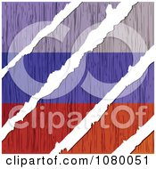 Clipart Rips Through A Wooden Russian Flag Royalty Free Vector Illustration