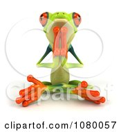 Clipart 3d Argie Frog Meditating In The Lotus Pose And Facing Front Royalty Free CGI Illustration