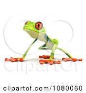 Clipart 3d Argie Frog Crouching Royalty Free CGI Illustration by Julos