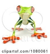 Clipart 3d Argie Frog Facing Front And Crouching Royalty Free CGI Illustration by Julos