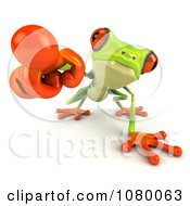 Clipart 3d Argie Frog Pointing Outwards Royalty Free CGI Illustration by Julos