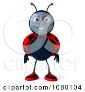 Clipart 3d Ladybug Facing Front Royalty Free CGI Illustration by Julos