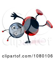 Clipart 3d Ladybug Cartwheeling Royalty Free CGI Illustration by Julos