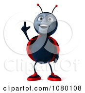 Clipart 3d Ladybug Pointing Up Royalty Free CGI Illustration by Julos
