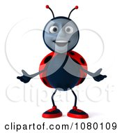 Clipart 3d Ladybug Holding His Arms Open Royalty Free CGI Illustration by Julos