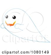 Happy White Ghost In Flight
