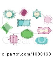 Clipart Set Of Colorful Frames And Labels Royalty Free Vector Illustration