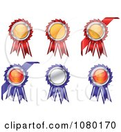 Clipart Set Of Blue And Red Award Ribbons Royalty Free Vector Illustration by Vector Tradition SM