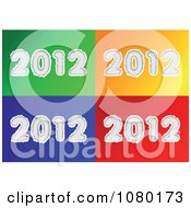 Clipart White Torn 2012 On Colorful Backgrounds Royalty Free Vector Illustration
