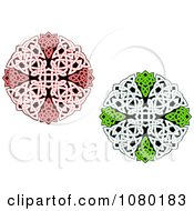 Clipart Red And Green Celtic Medallions 1 Royalty Free Vector Illustration