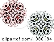 Clipart Red And Green Celtic Medallions 2 Royalty Free Vector Illustration