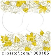 Clipart Autumn Background Of Yellow Leaves And Copyspace Royalty Free Vector Illustration by Vector Tradition SM