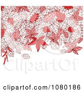 Clipart Autumn Background Of Red Leaves And Copyspace Royalty Free Vector Illustration by Vector Tradition SM