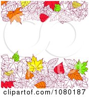 Clipart Background Of Autumn Leaves With Copyspace 2 Royalty Free Vector Illustration
