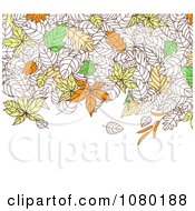 Clipart Background Of Autumn Leaves With Copyspace 1 Royalty Free Vector Illustration