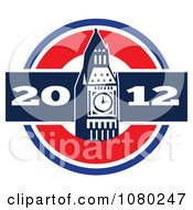 Clipart London 2012 New Year Big Ben Royalty Free Vector Illustration by patrimonio
