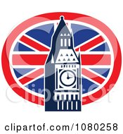 Clipart London Flag And Big Ben Royalty Free Vector Illustration by patrimonio
