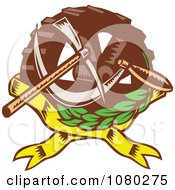Clipart Gear Wheel Pick Axe And Sickle Royalty Free Vector Illustration