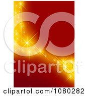 Clipart Red Background With Golden Stars Royalty Free Vector Illustration