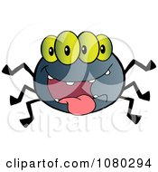 Clipart Four Eyed Creepy Spider Royalty Free Vector Illustration by Hit Toon