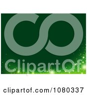 Clipart Magical Sparkle Wave Over A Green Background Royalty Free Vector Illustration