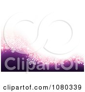 Clipart White And Purple Snowflake Wave Background Royalty Free Vector Illustration