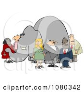 Group Of People Ignoring The Elephant In The Room 1