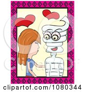 Clipart Woman In Love With A Mummy Royalty Free Vector Illustration by David Rey