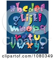 Clipart Colorful Sparkling Lowercase Alphabet Letters Royalty Free Vector Illustration