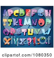 Clipart Colorful Sparkling Capital Alphabet Letters Royalty Free Vector Illustration