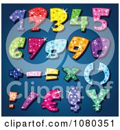 Clipart Colorful Sparkling Numbers Royalty Free Vector Illustration by yayayoyo