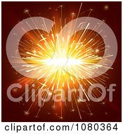 Clipart Orange Sparkler Lights On Brown Royalty Free Vector Illustration